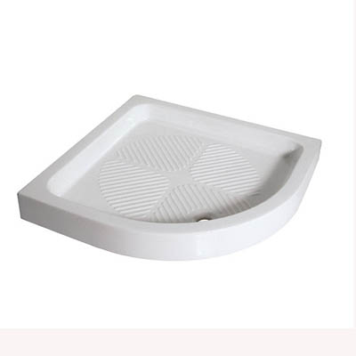 Curved shower tray